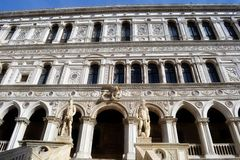 Venice Palazzo ducale. The Doge's Palace (Italian: Palazzo Ducale) is a palace built in Venetian Gothic style, and one of the main landmarks of the city of Stock Image