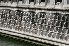 Venice, Palazzo Ducale, detail of the facade on the water stock photo