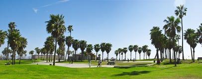 Venice panorama. A panoramic shot of the venice beach park area Royalty Free Stock Photos