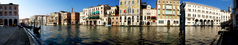 Venice panorama. Venice canal panorama view on a sunny summer day Stock Photos