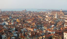 Venice panorama,Italy, view from the bell tower Royalty Free Stock Photography
