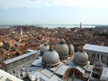 Venice panorama from the tower Royalty Free Stock Image