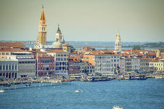 Venice. Panoramic view of Venice that are full of life and tourists Royalty Free Stock Photography