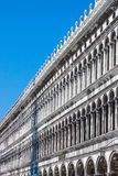 Venice - Piazza San Marco. Facade and arcades of old palazzo Royalty Free Stock Photography