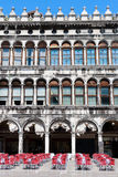 Venice - Piazza San Marco. Facade and arcades of old palazzo Stock Photography