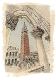 Venice - Piazza San Marco and Kampanila Royalty Free Stock Photography