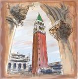 Venice - Piazza San Marco and Kampanila Royalty Free Stock Photos