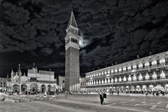 Venice Piazza San Marco at night Stock Image