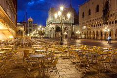 Venice. Piazza San Marco at night. Stock Image