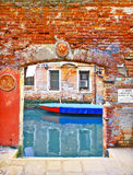 Venice picturesque, small landing place Stock Image