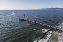 Venice Pier Aerial in Los Angeles California Royalty Free Stock Photography