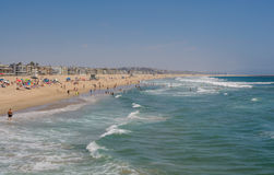 Venice Pier, CA, Los Angeles. Venice beach view from pier in California USA Stock Photo