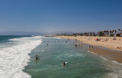 Venice Pier, CA, Los Angeles. Venice beach view from pier in California USA Stock Image