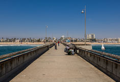 Venice Pier, CA, Los Angeles. Venice beach view from pier in California USA Stock Images