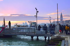 Venice pier at sunset Royalty Free Stock Image