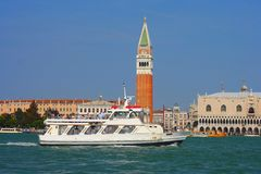 Venice, pleasure boat Royalty Free Stock Images
