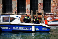Venice police. Stock Photos