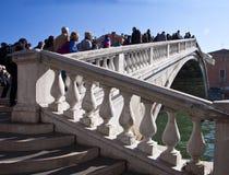 Venice, Ponte degli scalzi on Grand Canal Royalty Free Stock Photos