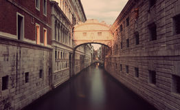 Venice, Ponte dei Sospiri. Early in the morning before sunrise, toning Stock Photography