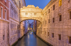 Venice - Ponte dei Sospiri in morning Royalty Free Stock Photography