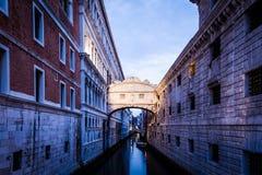 Venice - Ponte dei Sospiri. One of the most famous landmark in Venice, Ponte dei Sospiri Stock Photography