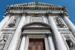 Venice - The portal of the church Chiesa dei Gesuati Stock Photos