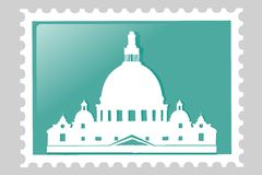 Venice. Postage stamp. stock photo