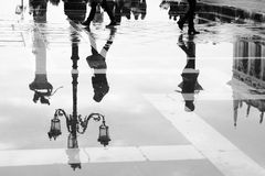 Venice in puddle Stock Images