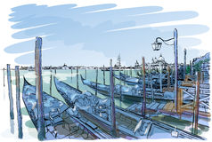 Venice. Quay Piazza San Marco Royalty Free Stock Images