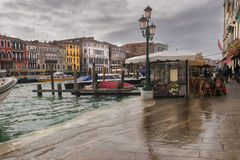 Venice in the rain Royalty Free Stock Image