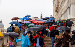 Venice on a rainy day Royalty Free Stock Photography