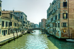 Venice. Reflections and surreal atmosphere of the canals of  venice Royalty Free Stock Images