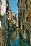 Venice. Reflections and surreal atmosphere of the canals of  venice Stock Image