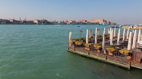Venice - The Restauration on the waterfront Fondamenta Zattere ponte lungo. Royalty Free Stock Images