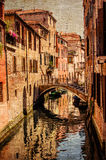 Venice retro picture. side channel Stock Photo