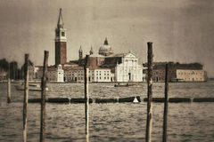 Venice in retro style Royalty Free Stock Photos