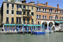 Venice by Rialto Bridge. Image was taken on June 2011 Royalty Free Stock Photography