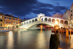 Venice, Rialto Bridge. Italy. Stock Photography