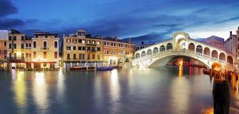 Venice, Rialto Bridge. Italy. Stock Image