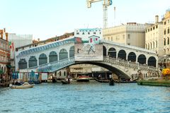 Venice. Rialto Bridge. Royalty Free Stock Image