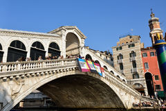 Venice, Rialto bridge Stock Images