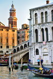 Venice, Rialto Bridge Royalty Free Stock Photography