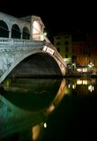 Venice, Rialto Bridge at night, Italy Royalty Free Stock Image