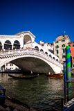 Venice rialto bridge from the ground. royalty free stock image