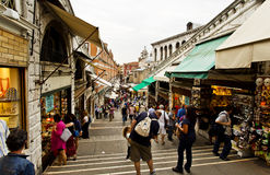 Venice Rialto Bridge Royalty Free Stock Photo