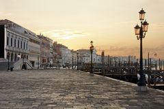 Venice - Riva degli Schiavoni at dawn Stock Photography