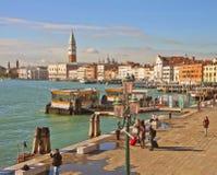 Venice, Riva degli Schiavoni panorama Stock Photography