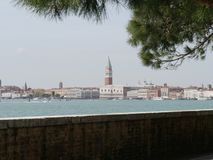 Venice - Riva of Schiavoni. Panorama from Riva of schiavoni is the riverside of Giudecca channel from San Marco square to the northern cape of Venice island. It stock photos