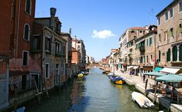 Venice river way Royalty Free Stock Photo