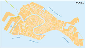 Venice road map Royalty Free Stock Photography
